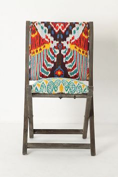 Terai Folding Chair, Red Ikat