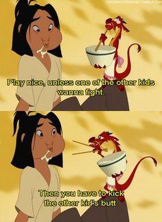 Mulan and Mushu lol one of my favorite Disney movie Walt Disney, Disney Magic, Funny Disney Memes, Disney Jokes, Disney Insults, Disney Facts, Disney And Dreamworks, Disney Pixar, Punk Disney
