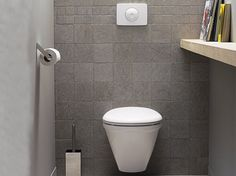 La déco des WC noir et blanc, osez c\'est chic !   Toilet