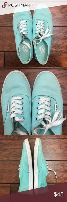 Vans Tiffany Blue Sneakers Size 7 1/2 Good used condition. Marks shown in pictures. Women's size 7 1/2 Vans Shoes Sneakers
