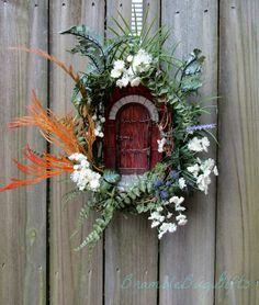 """Religious Quote Wreath Christian Quotes """"Knock and the door shall be opened"""" Wreath"""