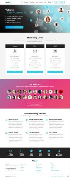 Buy Aardvark - Community, Membership, BuddyPress Theme by GhostPool on ThemeForest. Aardvark is a complete community focussed WordPress theme. Professional Wordpress Themes, Free Fonts For Designers, Advertising Services, Responsive Web, Website Design Inspiration, Blog Sites, Web Design, Modern Design, Graphic Design