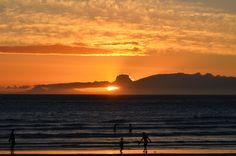 Hot summer evening - sunset over False Bay (Cape Town) as seen from Strand Beach Road. #Strand #sunset #FalseBay #StrandBeachRoad