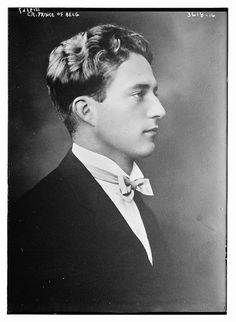Prince Leopold of Belgium, later King Leopold III, was a handsome young man, but was not too bright and did not make a very good king. Vintage Photographs, Vintage Photos, King Leopold, Historia Universal, Casa Real, Royal House, Prince And Princess, Royal Weddings, King Queen