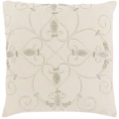 Surya Decorative Keys 20-inch Poly or Down Filled Pillow