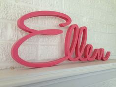 Personalized Name Sign, Wooden Letters, Script Font, Beautifully Connected Letters, Your Custom Name and Color via Etsy