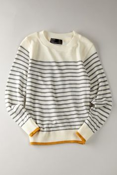 How I want my first knitted pullover to look. The striped maybe paler, or light blue.