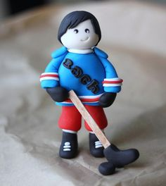 Welcome to Les Pop Sweets and thank you for stopping by our little shop! If you are looking for one-of-a-kind fondant toppers for your Hockey Birthday, Boy Birthday, Birthday Cakes, Birthday Ideas, Hockey Cakes, Fondant People, Le Pop, Mcqueen Cake, Sport Cakes
