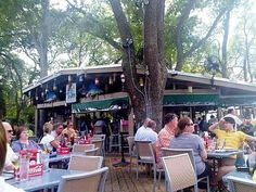 Skull Creek Boathouse HILTON HEAD, SOUTH CAROLINA- A Busy Afternoon On the Enormous Deck Overlooking the Water