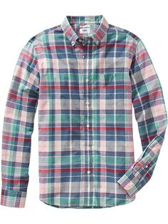 Men's Slim-Fit Madras Shirts Product Image