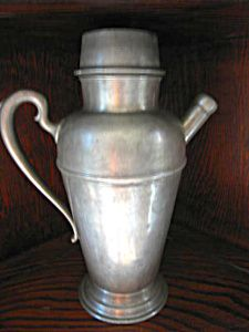 Antique pewter flagon for sale at More Than McCoy at http://www.morethanmccoy.com
