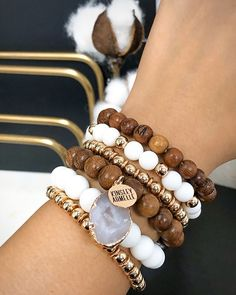 Shop Our Latest Sales, Last Call, And Clearance Items Here! Limited Quantities Remaining And Final Sale. Diy Beaded Bracelets, Bracelet Crafts, Gemstone Bracelets, Handmade Bracelets, Beaded Jewelry, Stack Bracelets, Wooden Jewelry, Leather Jewelry, Stretch Bracelets