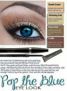 Make blue eyes pop with this eye look.