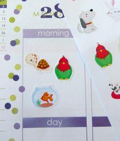 Pets Planner Stickers for Erin Condren Planner, Filofax, Plum Paper