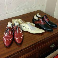 http://chicerman.com  jfitzpatrickfootwear:  My little homage to my time in shoemaking  #twotonesshoes #dressshoes #mensshoes #menswear #mensstyle #mensfashion #mensfashion #fashion #style #shoes #scarpe #zapatos #chaussures #esilo #stile #moda #styleformen #shoeporn #shoestagram #theshoesnob #theshoesnob84 #handmadeshoes #bespokeshoes  #menshoes