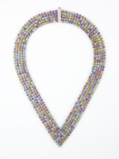 confetti necklace, perfect with a simple white dress!