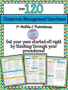 127 Classroom Management Questions {FREEBIE} (Ask yourself these questions before the school year starts. If you have a good answer for each of them, you are set! If not, plan now so you are ready when the school year starts! Classroom Behavior Management, Classroom Procedures, Behaviour Management, Classroom Organisation, Teaching Procedures, Classroom Routines, Class Management, Teaching Strategies, Teaching Ideas
