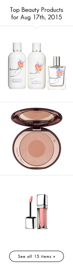 """Top Beauty Products for Aug 17th, 2015"" by polyvore ❤ liked on Polyvore featuring beauty products, gift sets & kits, no color, bubble bath, makeup, cheek makeup, blush, lip makeup, lipstick and beauty"
