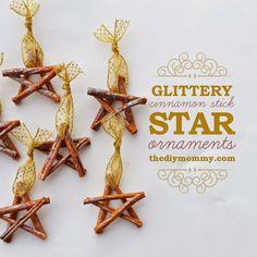 15 DIY Christmas Ornaments Made with Cinnamon Sticks