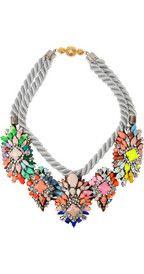 ShouroukIvana Swarovski crystal necklace