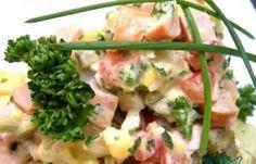 Húsos saláták : Frankfurti saláta