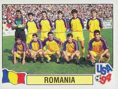 Romania team group for the 1994 World Cup Finals.