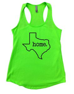 TEXAS Home Womens Workout Tank Top