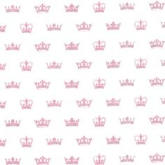 Michael Miller Send in the Crowns Princess Pink Metalic silver Fabric