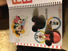 Smash book page for Mickey and Minnie mouse