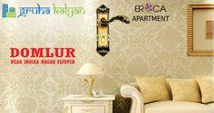 GruhaKalyan Introducing ERICA, Fully Automated Houses at Domlur (Near Indira Nagar flyover) Available Both 2 & 3BHK Flats/Apartments.