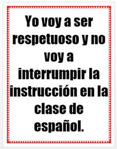 Señora Hahn's Spanish Class: August 2015