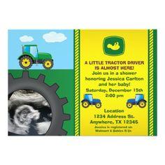 Tractor Baby Shower Invitation