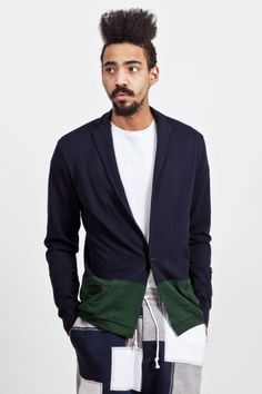 Kolor SS13. Excellent. Navy And Green, Dark Navy, Suit Jacket, Japanese, Blazer, Suits, Jackets, Fashion, Down Jackets