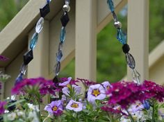 Deep blue hanging basket wire by statementbyemily on Etsy