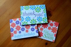 Flowers for Any Occasion Set of 6 Everyday by GingerPrintsCo
