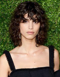 Mica Arganaraz proves the shag haircut works for curly hair, too