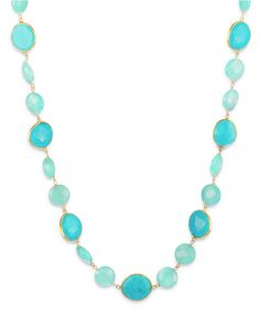 Chalcedony and Turquoise Necklace