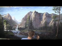 Sunlit Mountains | Gallery Masterpiece, Landscape Painting [part 1] - YouTube