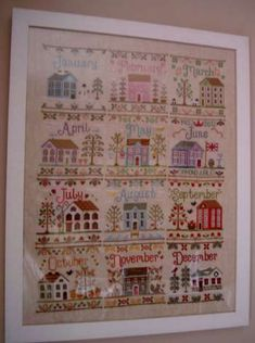 110613-1 Country Cottage Needleworks, Good Books, Cross Stitch, Holiday Decor, Home Decor, Weaving, Embroidery, Tricot, Punto De Cruz