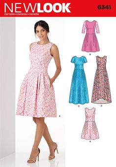 New Look 6341 Misses' Dress in Three Lengths Sewing Pattern