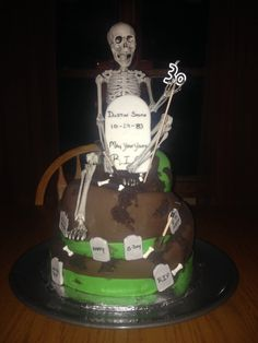 One foot in the grave..my boyfriends 30th birthday cake
