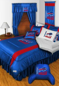 BUFFALO BILLS 5PC FULL BEDDING SET Boy Football NFL bag by Dream Time Kids Bedding. $119.94