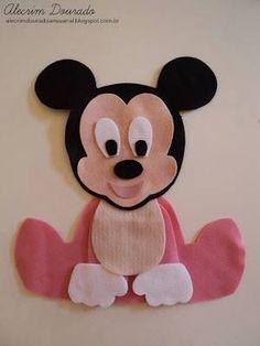 Bonecos baby da Turma do Mickey com moldes