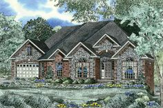 Plan 59132ND: French Traditional Home