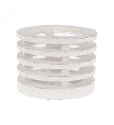 CERAMIC CANDLE HOLDER IN WHITE COLOR 18X18X13