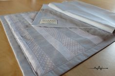 Corsia runner da tavolo in cotone grigio a righe e di zigzAgi