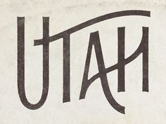 by Simon Walker - this hand drawn type really does make me feel Utah but it's hard to define why? A lot more thought went into this type than is obvious at first glance. Typography Letters, Typography Logo, Graphic Design Typography, Lettering Design, Simon Walker, Design Retro, Design Art, Type Design, Cover Design