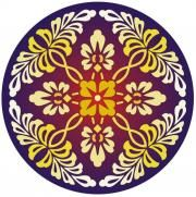 Vectorized round floral pattern 1