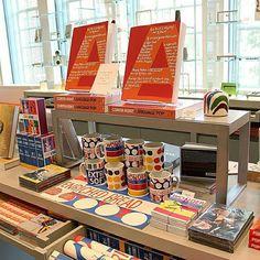 """New merchandise for our Corita Kent exhibition is adding pop to our shop display! #CoritaKentPop #HarvardArtMuseums"""