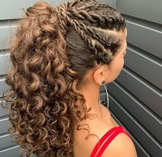 Mixed Race Hairstyles, Work Hairstyles, Flower Girl Hairstyles, Curled Hairstyles, Summer Hairstyles, Hairdos For Curly Hair, Natural Hair Styles, Long Hair Styles, Hair Today